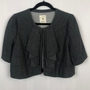 ANTHROPOLOGIE ELEVENSES Cropped wool blazer 10
